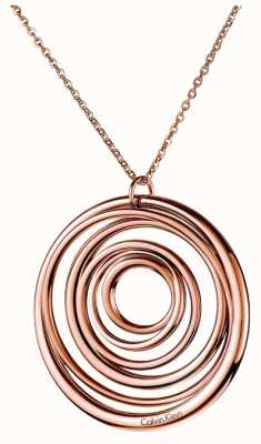 Calvin Klein Sumptuous Rose Gold PVD Plated Necklace KJ2GPP100100