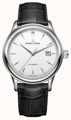 Maurice Lacroix Mens Les Classiques Automatic Silver Date Dial Watch LC6098-SS001-130-1