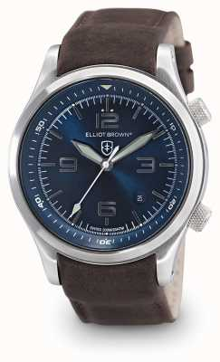 Elliot Brown Mens Canford Brown Leather Blue Dial 202-007-L07