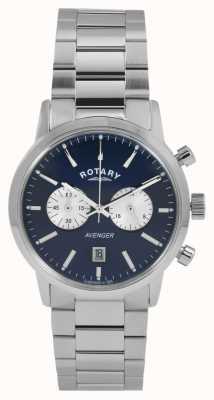 Rotary Mens Avenger Stainless Steel Blue Dial GB02730/05