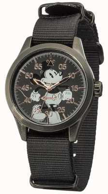 Disney By Ingersoll Mickey Mouse Watch With Black Nylon Strap DIN008BKBK