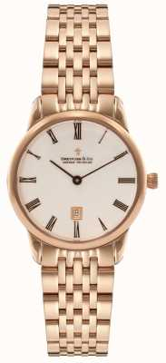 Dreyfuss Womens Rose Gold PVD Plated Date display DLB00138/41