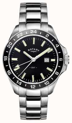 Rotary Mens Havana Stainless Steel GMT GB05017/04