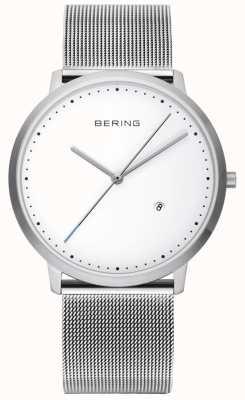 Bering Unisex Silver Strap White Dial 11139-004