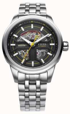 FIYTA Mens Stainless Steel Strap Black Dial GA866003.WBW