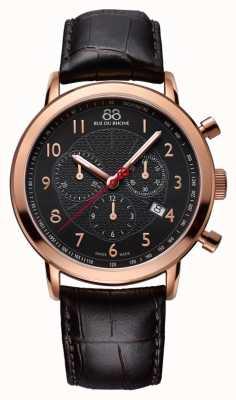 88 Rue du Rhone Mens Black Rose Gold Watch Black Dial 87WA120050