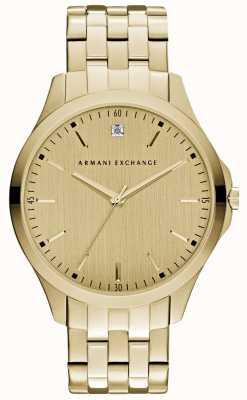 Armani Exchange Mens Hampton Sleek Gold Dial AX2167