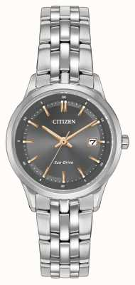 Citizen Ladies Stainless Steel Watch With Sapphire Crystal EW2400-58H