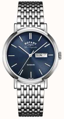 Rotary Mens Les Originales Windsor Stainless Steel GB90153/05