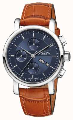 Muhle Glashutte Teutonia II Chronograph Leather Band Night Blue Dial M1-30-92-LB