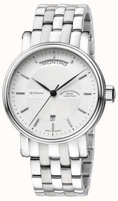 Muhle Glashutte Teutonia II Tag/Datum Stainless Steel Band Silver Dial M1-33-65-MB