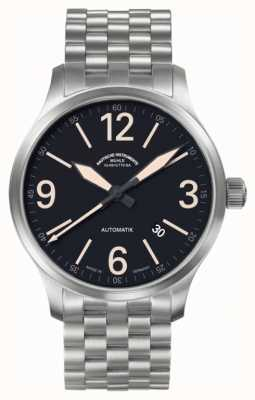 Muhle Glashutte New Terranaut III Trail (stainless steel) Stainless Steel  Band Black  Dial M1-40-14/1-MB