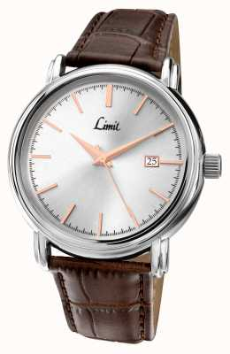 Limit Mens Brown Leather Strap Silver Dial 5982.35