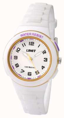 Limit Kids White Resin Strap White Dial 5590.24