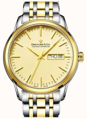 Dreyfuss Men's Dreyfuss Two Tone Gold 1890's Watch DGB00126/03