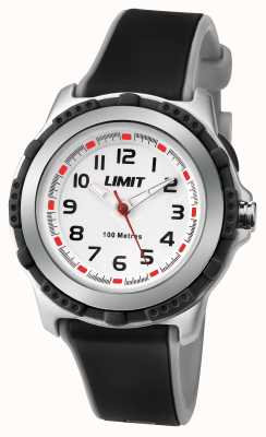 Limit Kids Active Black Resin Strap White Dial 5597.24