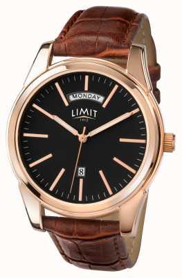 Limit Men's Brown Strap Black Dial 5484.01