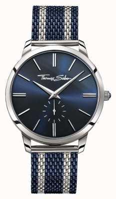 Thomas Sabo Mens Rebel Spirit Two Tone Steel Mesh Strap Blue Dial WA0268-281-209-42
