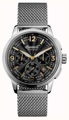 Ingersoll Mens 1892 The Regent Stainless Steel Black Dial I00103