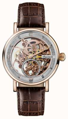 Ingersoll Mens 1892 The Herald Automatic Brown Leather Strap I00401