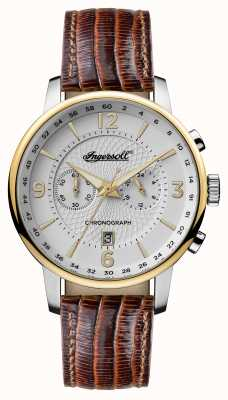 Ingersoll Mens 1892 The Grafton Brown Leather Strap White Dial I00602