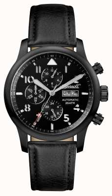 Ingersoll Mens Discovery The Hatton Black Leather Strap Black Dial I01402