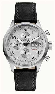 Ingersoll Mens Discovery The Bateman Black Leather Strap Silver Dial I01901