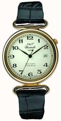 J&T Windmills Mens Throgmorton Mechanical Watch Gold Plated WGS50002/18