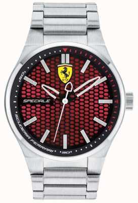 Scuderia Ferrari Mens Speciale Stainless Steel Bracelet Red Dial 0830357