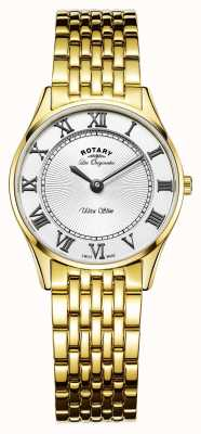 Rotary Womens Les Originales Ultra Slim White Dial LB90803/01