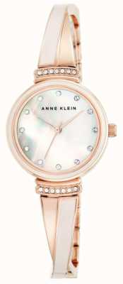 Anne Klein Womens Rose Gold Tone Bracelet Mother Of Pearl Dial AK/N2216BLRG