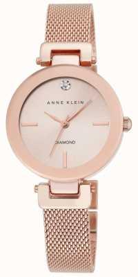 Anne Klein Womens Rose Gold Mesh Rose Gold Dial AK/N2472RGRG