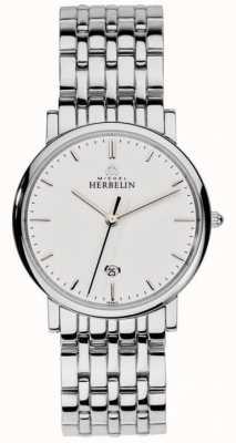 Michel Herbelin Mens Stainless Steel Silver Mesh 12543/B11
