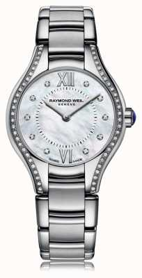 Raymond Weil Womans Noemia 62 Diamond Mother Of Pearl Dial 5124-STS-00985