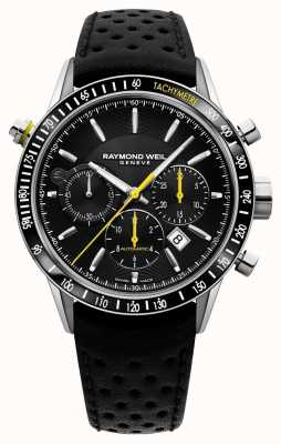 Raymond Weil Mens Automatic Black Chronograph Black Leather Strap 7740-SC1-20021
