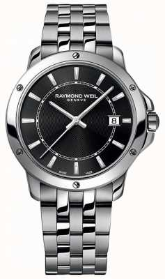Raymond Weil Mens Tango Stainless Steel Black Index Dial 5591-ST-20001