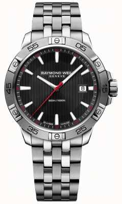 Raymond Weil Mens Tango 300 With Black Dial 8160-ST2-20001