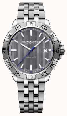 Raymond Weil Mens Tango 41mm Stainless Steel Grey Index Dial 8160-ST2-60001