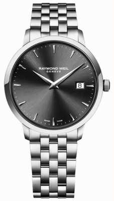 Raymond Weil Mens Quartz Movement Stainless Steel Charcoal Dial 5488-ST-60001