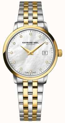 Raymond Weil Womans Toccata Two Tone Gold Diamond 5988-STP-97081