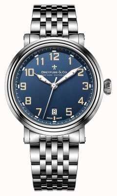 Dreyfuss Dreyfuss Mens Stainless Steel 1924 Bracelet Blue Dial DGB00152/52