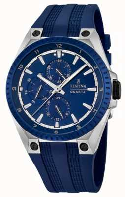 Festina Mens Multi-Function Blue Rubber Strap F16834/2