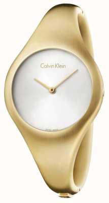 Calvin Klein Ladies Bare Small Gold PVD Watch K7G1S516