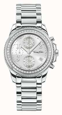 Thomas Sabo Ladies Glam Chrono Stainless Steel WA0240-201-201-33