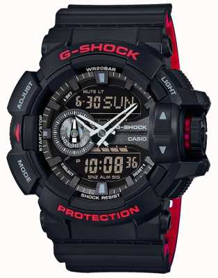 Casio Mens G-shock Alarm Chronograph Black Resin Strap GA-400HR-1AER