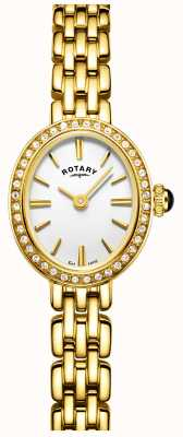 Rotary Womans Gold Plated Cocktail Watch LB05051/02