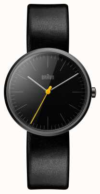 Braun Womans Slim Black Leather Strap BN0172BKBKL
