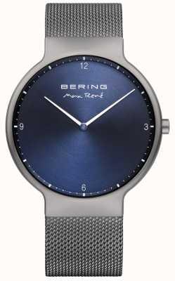 Bering Mens Max René Interchangeable Mesh Strap Grey 15540-077