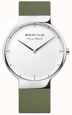 Bering Mens Max René Interchangeable Green Rubber Strap 15540-800