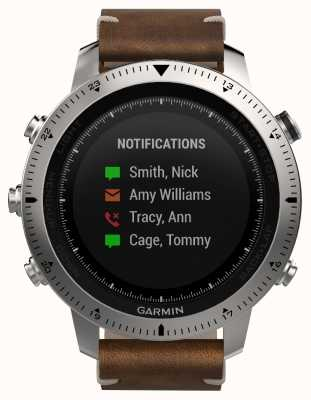 Garmin Fenix Chronos Vintage Style Leather (w/ black sports band) 010-01957-00